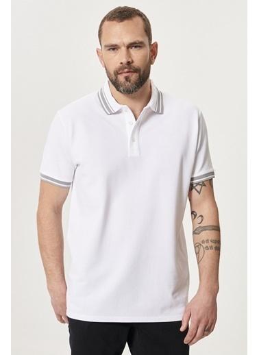 Altınyıldız Classics Slim Fit Dar Kesim %100 Koton Polo Yaka Tişört 4A4821200055 Beyaz